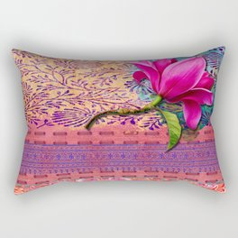 Memory of a day in the gardem Rectangular Pillow