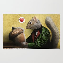 Mr. Squirrel Loves His Acorn! Rug