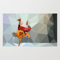 low poly Area & Throw Rugs featuring Dancer low poly by Angel Decuir