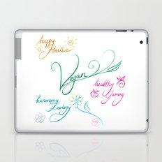 Vegan & happy lifestyle Laptop & iPad Skin