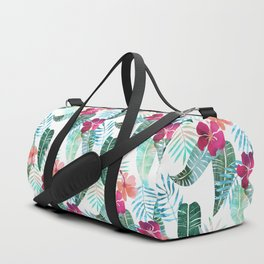 Island Goddess Tropical White Duffle Bag
