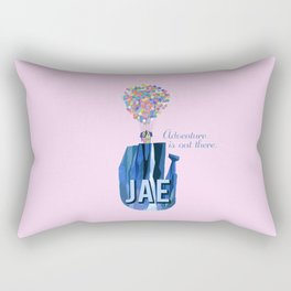 "custom order pink Jae ""adventure is out there""  Rectangular Pillow"