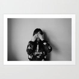 No Looking Art Print