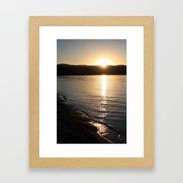 Lake Sunset Framed Art Print