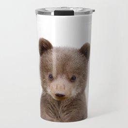 Baby Bear Cub Portrait Travel Mug
