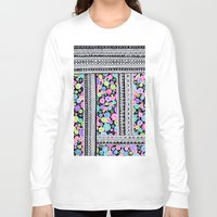 blanket Long Sleeve T-shirts featuring Psychedelic blanket by Asja Boros