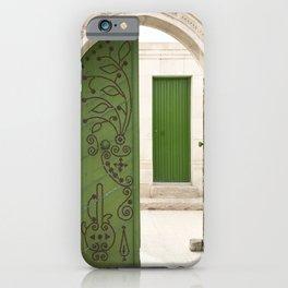 Green doors, Arabic style iPhone Case
