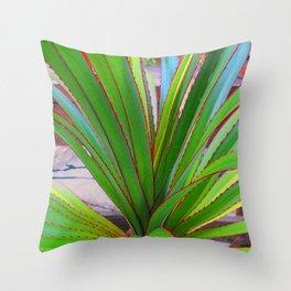 Garden Screw Pine Throw Pillow