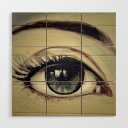 Eyes are Windows to the Soul Wood Wall Art