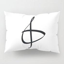 Treble clef minimalist hand drawn print Pillow Sham