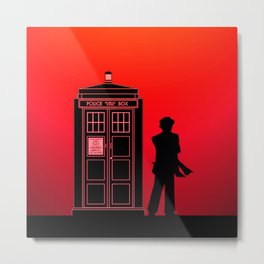Tardis With The Seventh Doctor Metal Print