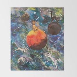 Space Catz Throw Blanket