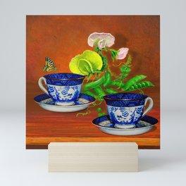 Teacups with Snap Peas Mini Art Print