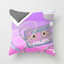 pixel casette Throw Pillow