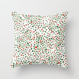Christmas color palette Throw Pillow
