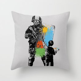 Turmoil Paint Throw Pillow