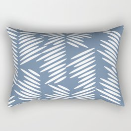 Leaves abstract in blue Rectangular Pillow
