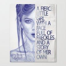 Fierce little girl Canvas Print