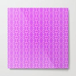 Purple Bugs Tiled Pattern Metal Print
