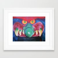 monster Framed Art Prints featuring Monster by Hillary White