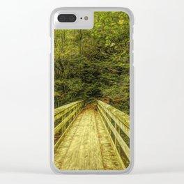 Bridge To Moore Cove Falls Clear iPhone Case