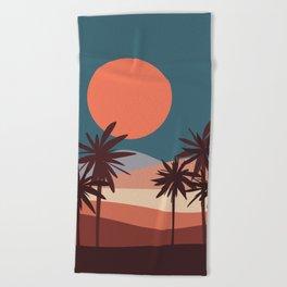 Abstract Landscape 13 Portrait Beach Towel
