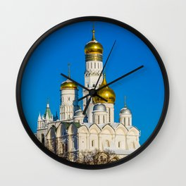 Moscow Kremlin cathedrals Wall Clock