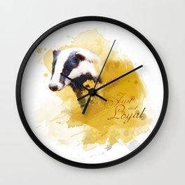 Hufflepuff HP inspired artwork Wall Clock
