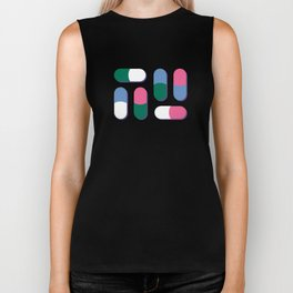 Colorful pills Biker Tank