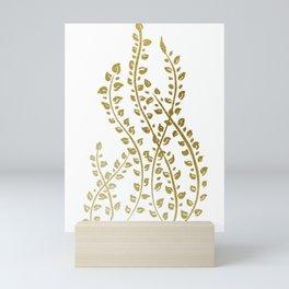 Golden Sea Weeds Mini Art Print