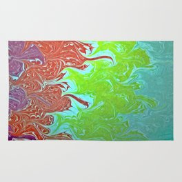 Rainbow Wing Water Marbling Rug