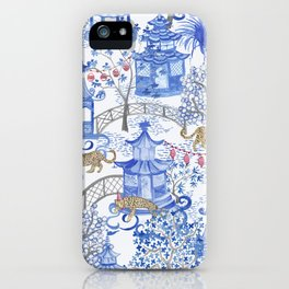Party Leopards in the Pagoda Forest iPhone Case