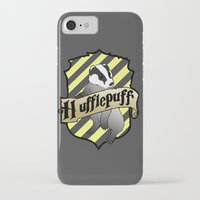 hufflepuff iPhone & iPod Cases featuring Hufflepuff Crest by AriesNamarie