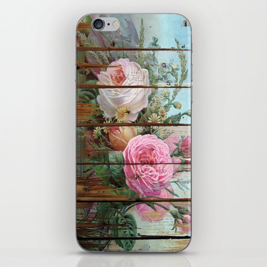 recycled art- rose wood iPhone & iPod Skin