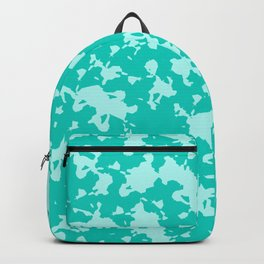 Blue Green Abstract Backpack