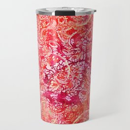 Abundance, Abstract Art Circles Grunge Travel Mug