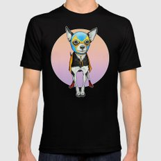 Chihuahua - Luchador  Black SMALL Mens Fitted Tee