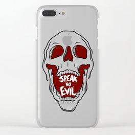 Speak No Evil Clear iPhone Case