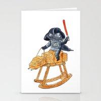 darth vader Stationery Cards featuring Darth Vader by gunberk