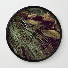 Red rocks in the forest I Wall Clock