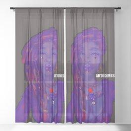 Order and Chaos - Purple Haze Sheer Curtain