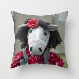 Little Horse on the Prairie Throw Pillow