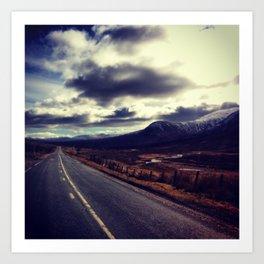 Roads: Into Sky Art Print