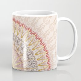 Beige Red Gold Mandala Coffee Mug
