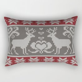 Ugly knitted Sweater Rectangular Pillow