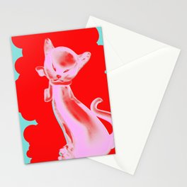 Pink Cat #5 Stationery Cards