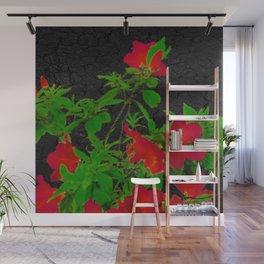 Dark Pop Art Floral Poster Wall Mural