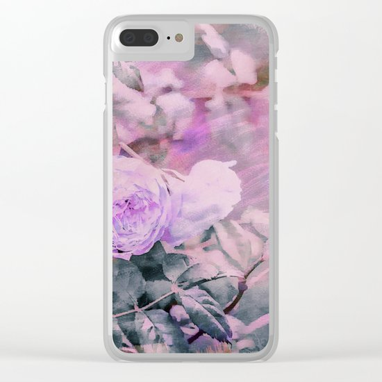 Romantic Rose Soft Pastel Colors Clear iPhone Case