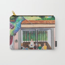 THE THIRSTY HUMMINGBIRD Carry-All Pouch