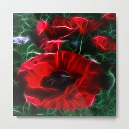 I love poppies Metal Print